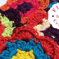 Crochet Flowers - Three colors
