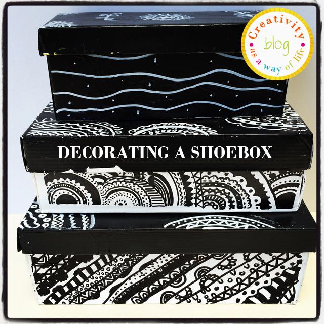 Decorating a shoebox