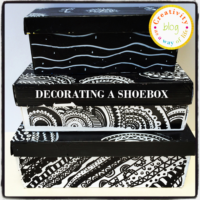 Decorating a shoebox