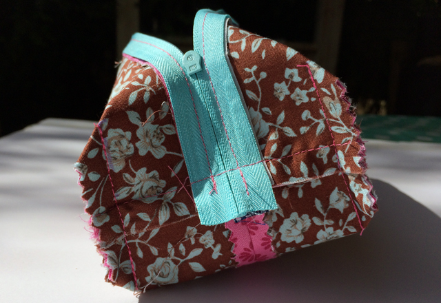 pencil case box - sewing the angles