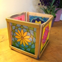 Making a Paper Lantern with kids