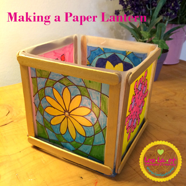 Making a paper lantern with kids stephanie harari for How to build a chinese lantern